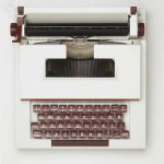 Typewriter, view from above.