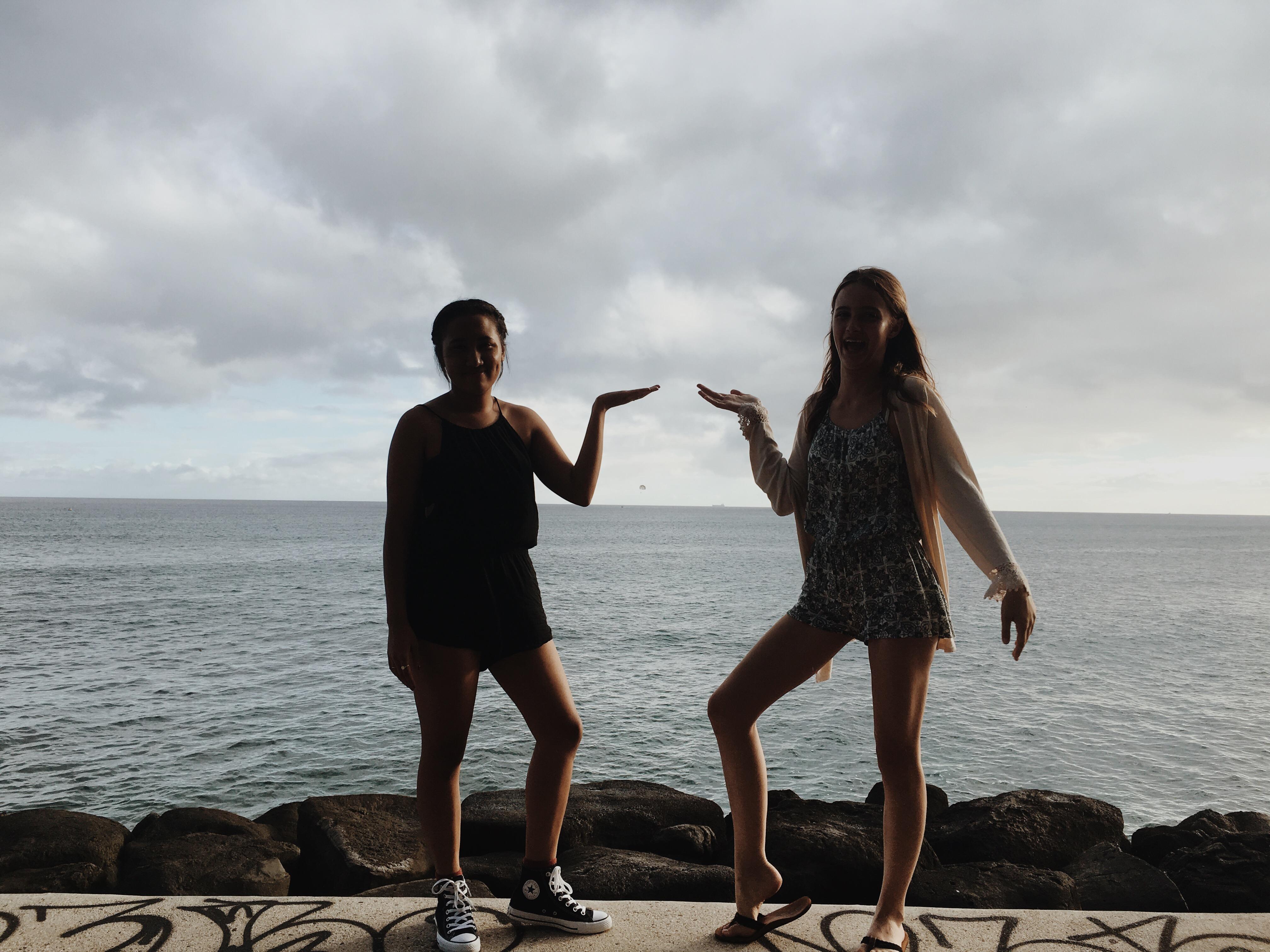 Viviane & I at Kaka'ako