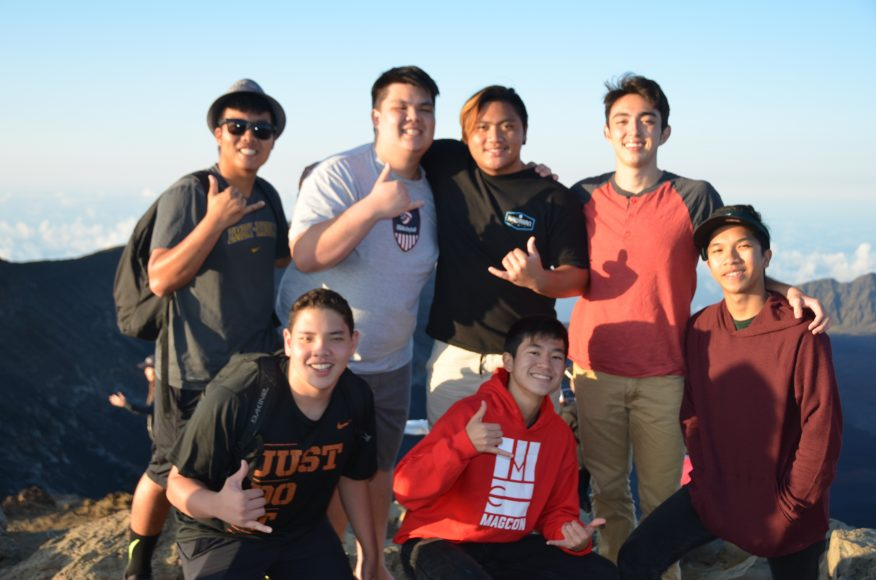 Some of the SOL guys at the top of Haleakalā. Photograph by Todd Yokotake