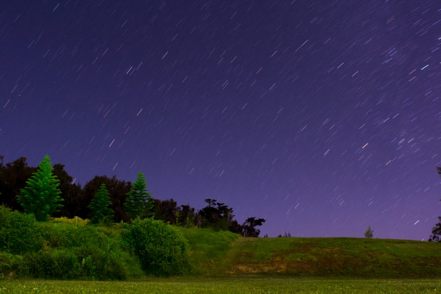 Star trails at Kahua Ranch. Photograph by Ryan Su ('17)